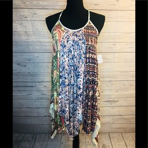 Free people beautiful Top  Mixed Print
